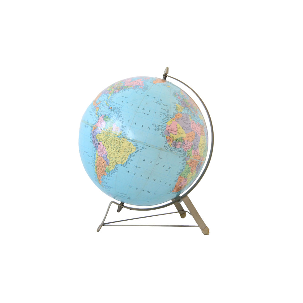 Vintage Mid Century Modern Replogle Globe