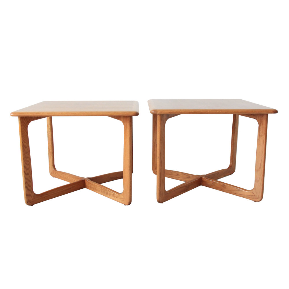 Vintage Mid Century Modern Lane Side Table Pair