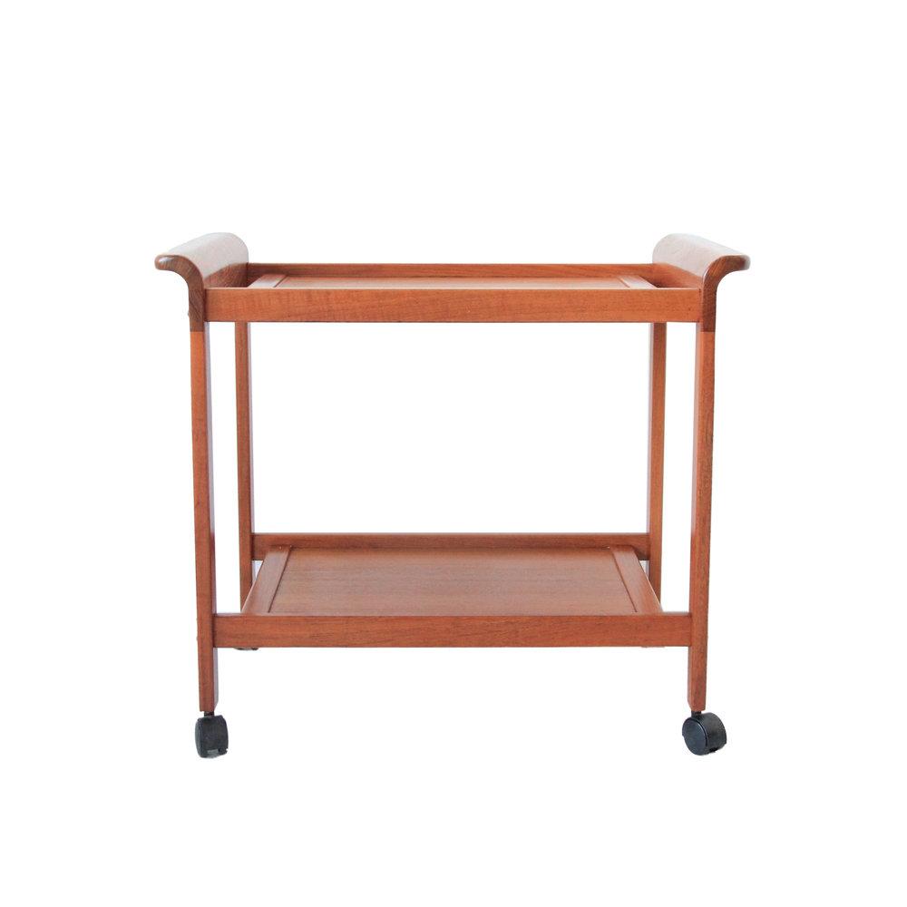 Vintage Mid Century Modern Teak Bar Cart