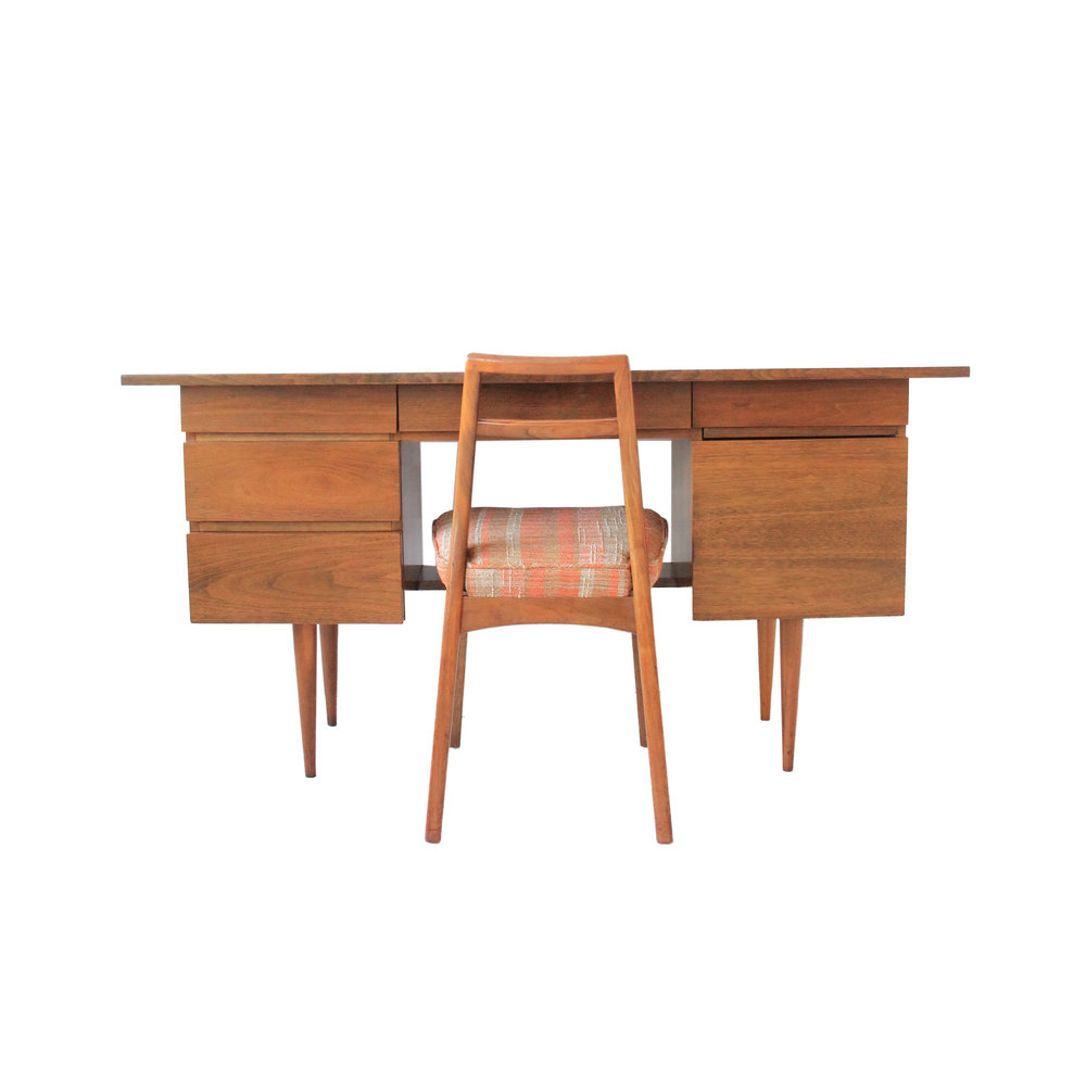 Vintage Mid Century Modern Desk By Mel Smilow