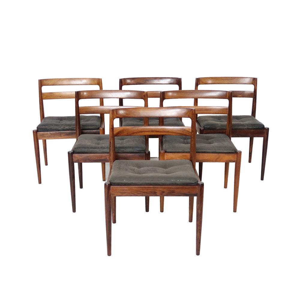 Vintage Danish Mid Century Modern Dining Chairs