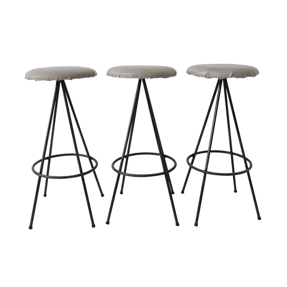 vintage mid century modern bar stools set of 3
