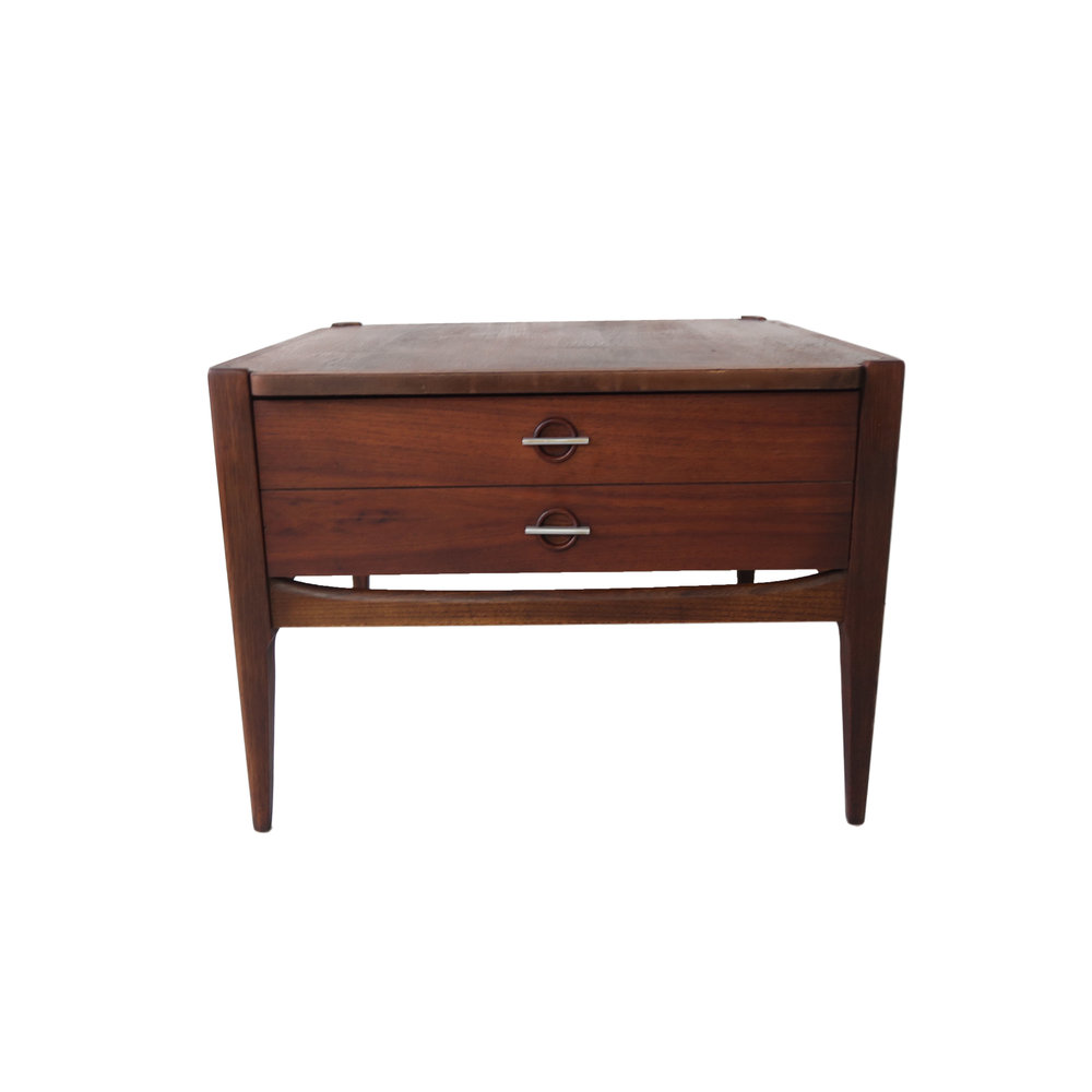 Vintage Mid Century Modern Square End Table