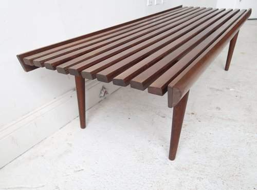 furniture mid mary item century expandable by modern kays danish slat bench coffee table wood marykaysfurniture