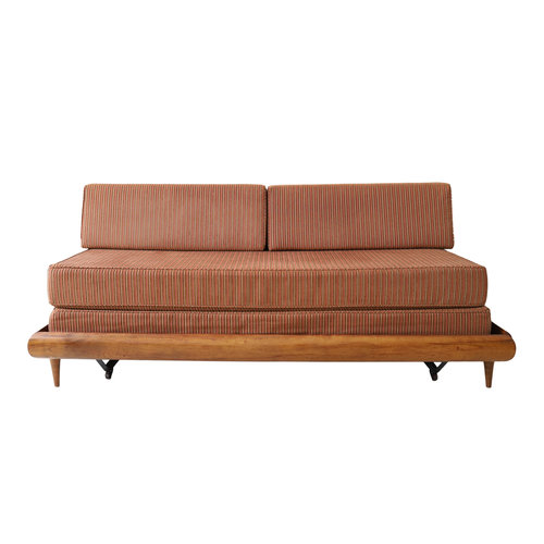 Vintage Mid Century Modern Day Bed Sofa Trundle Frame