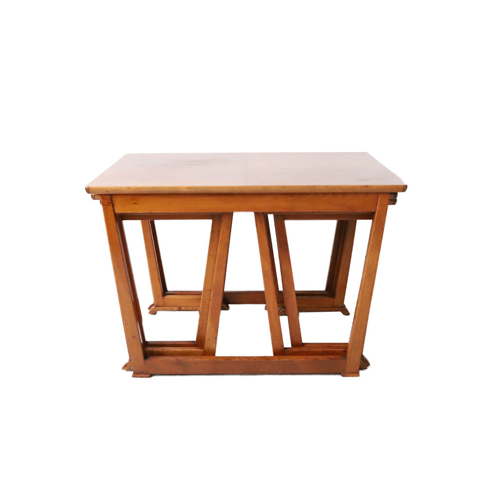 Vintage Mid Century Modern Nesting Side Tables