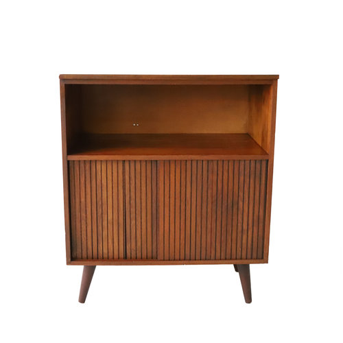 At 1st Sight New Products Vintage Sliding Door Record Cabinet