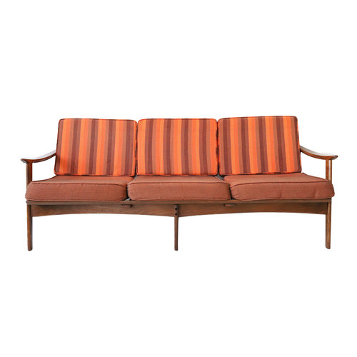 vintage mid century modern striped daybed sofa - Daybed Sofa