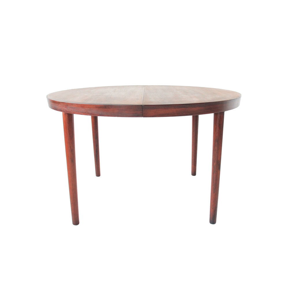 round danish vintage mid century modern redwood dining table.jpg