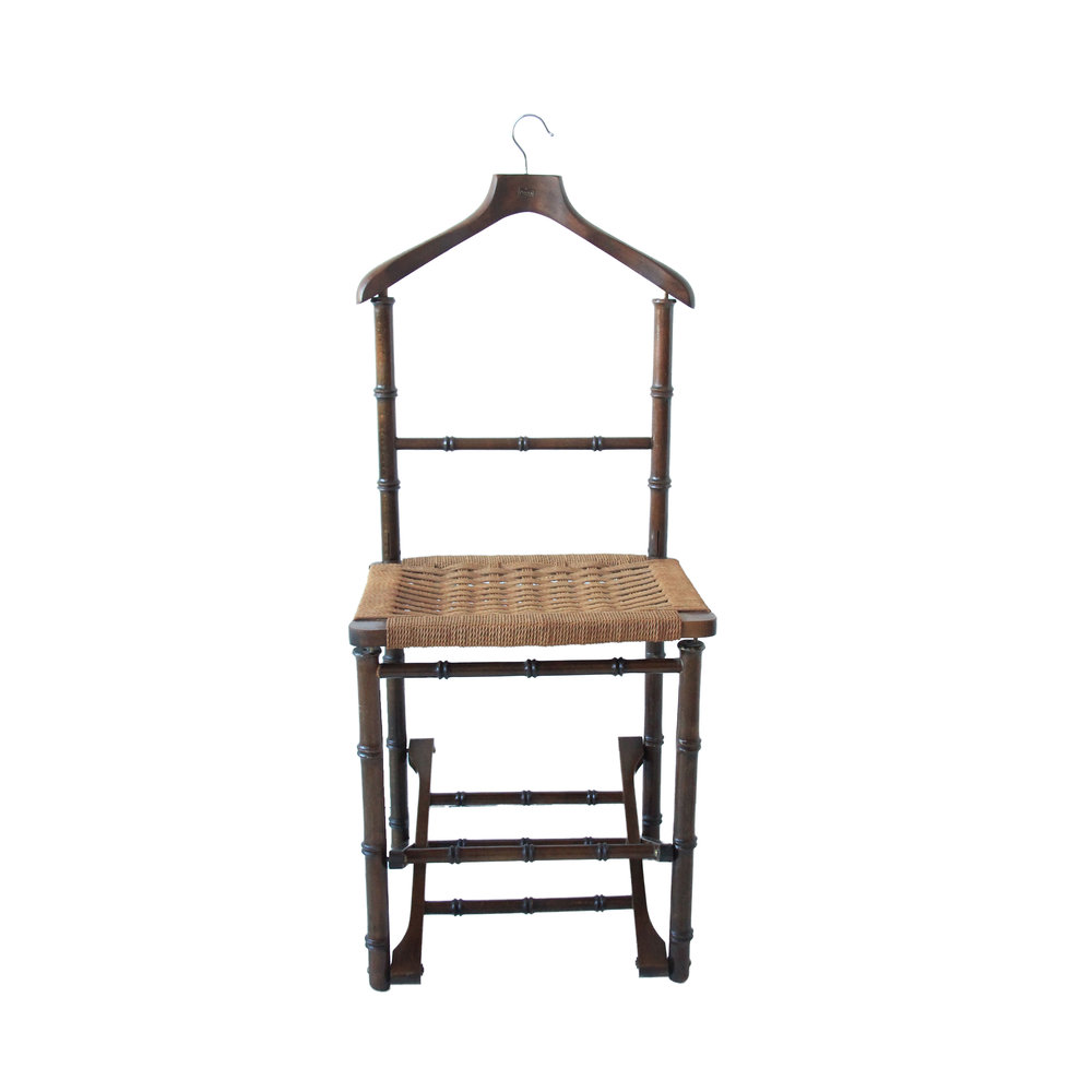 vintage folding faux bamboo valet chair.jpg