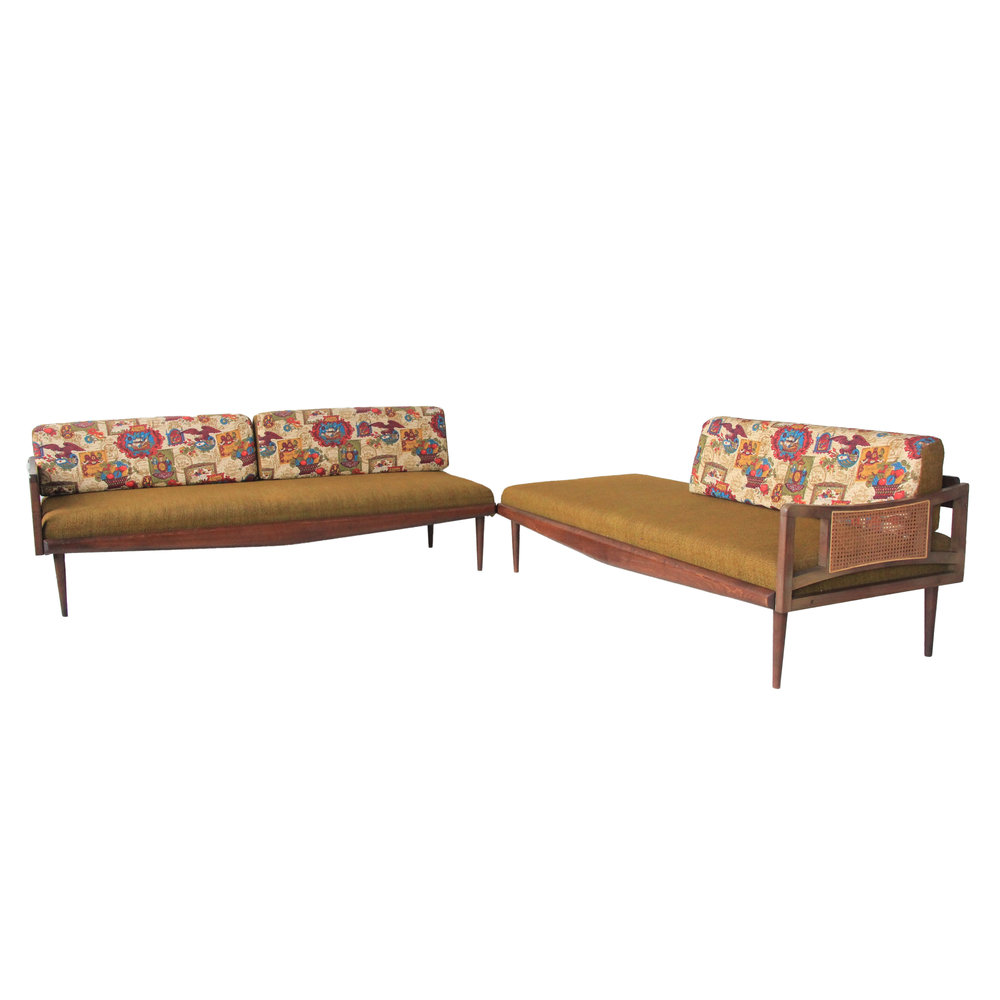 vintage green mid century modern chaise sectional.jpg