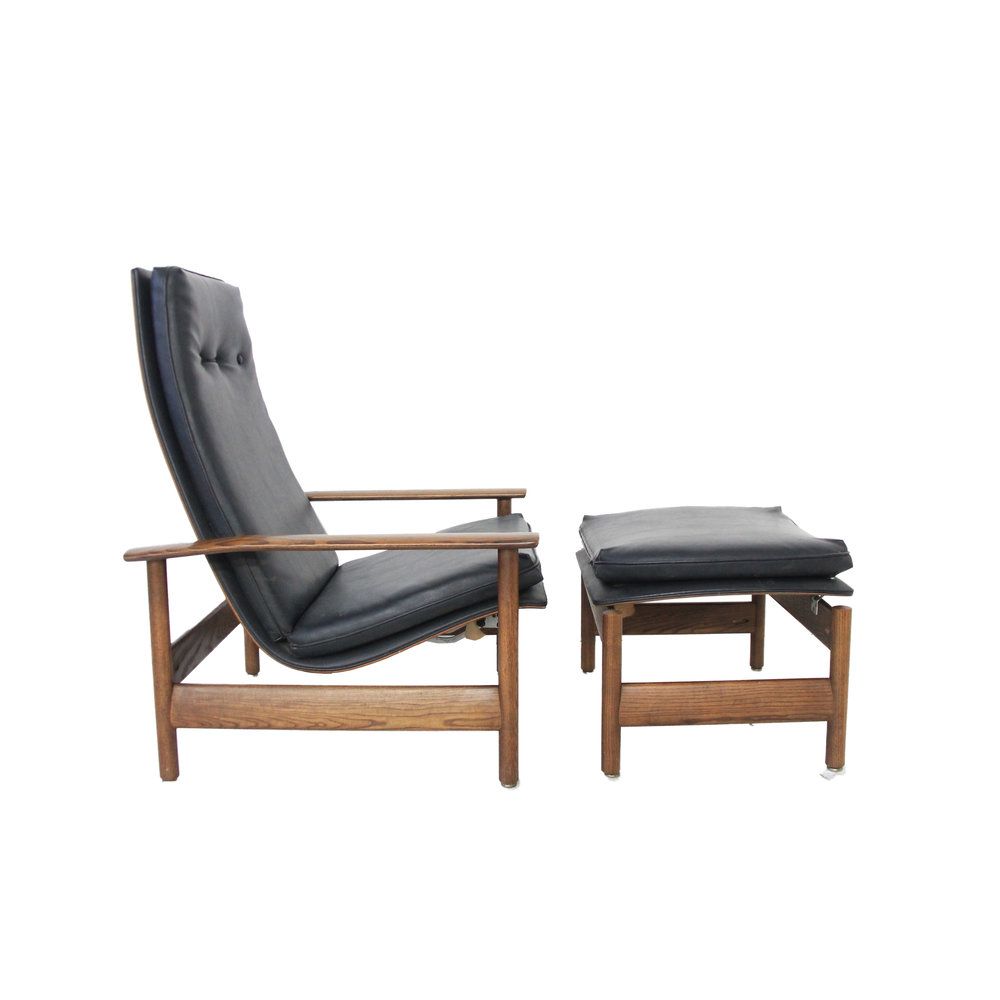 vintage mid century modern black recliner.jpg