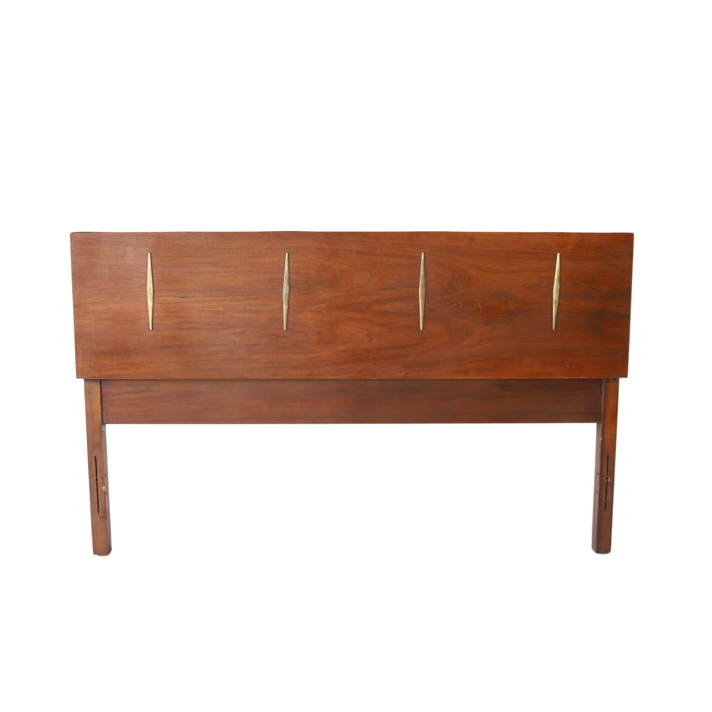New Products Vintage Mid Century Modern Full Geometric Headboard At 1st Sight