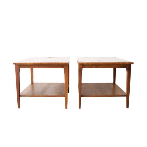Pair Of Vintage Mid Century Modern End Tables By Lane