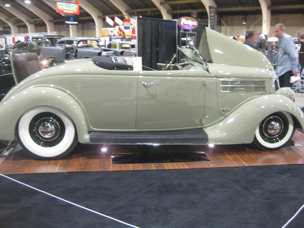 1936 Ford Roadster with Lincoln V12 Power, AMBR contender at the 2016 GNRS in Pomona.