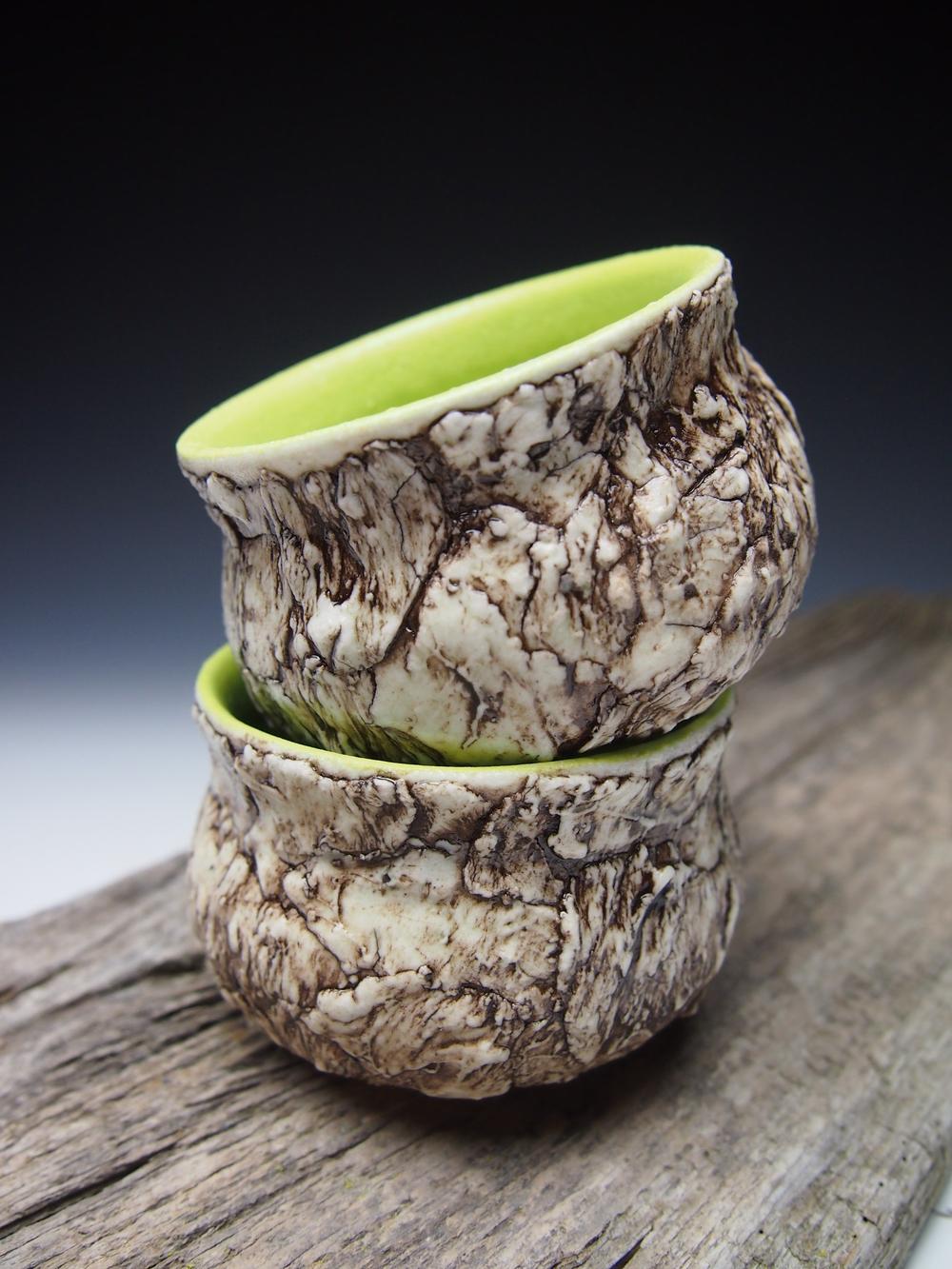 Chartreuse Bark Tea Cups