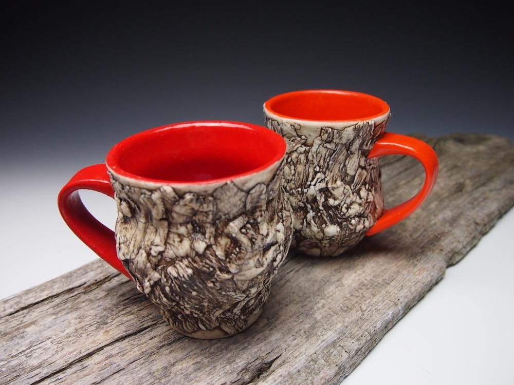 curvy bark mugs - red-orange.jpg