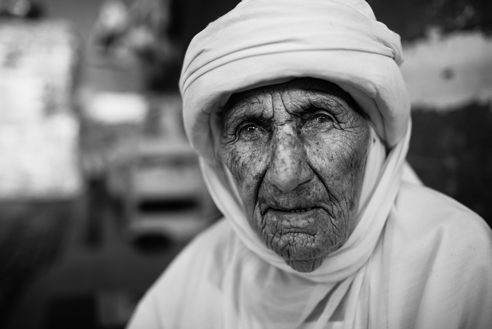 Yazidi old lady in Zakho