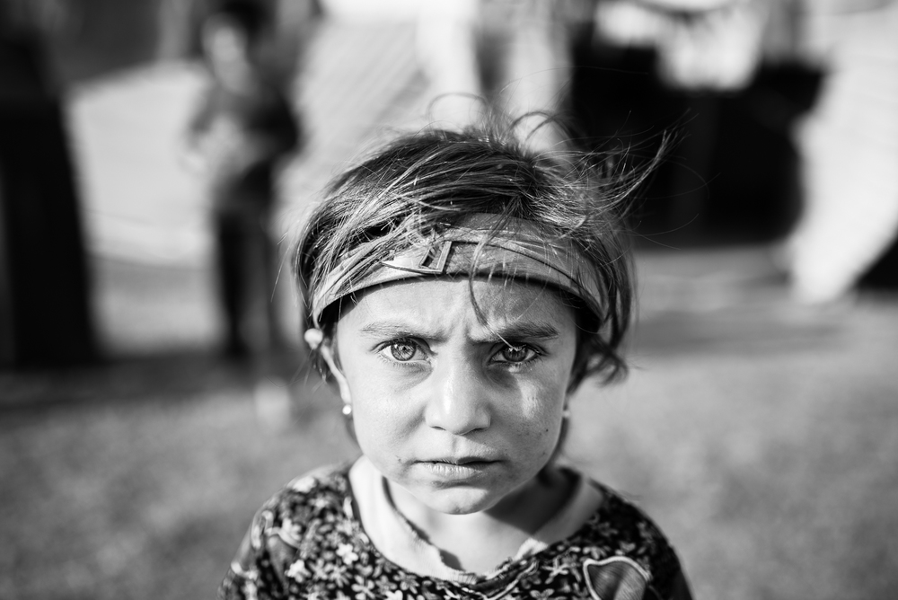 Yazidi little girl in Zakho