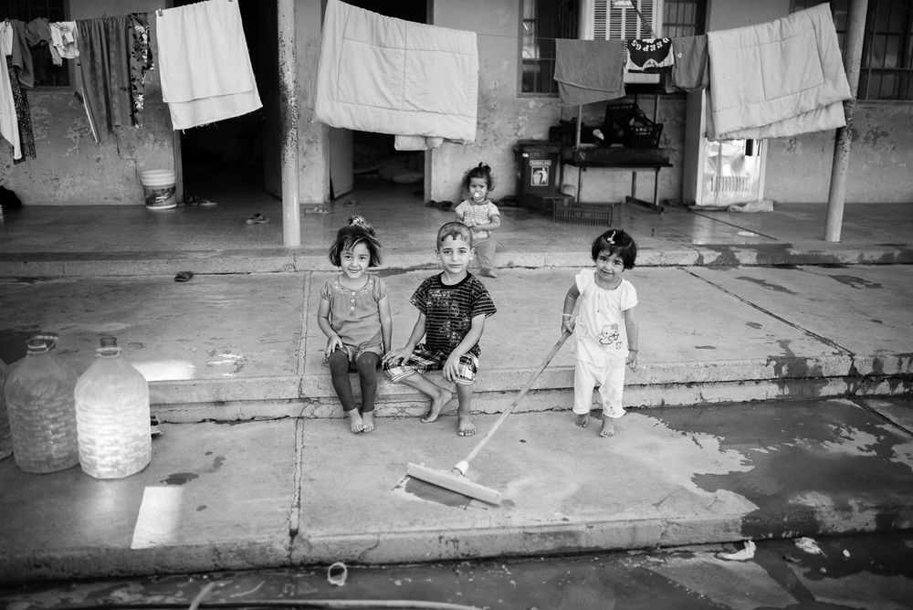 Children inside a school in Erbil