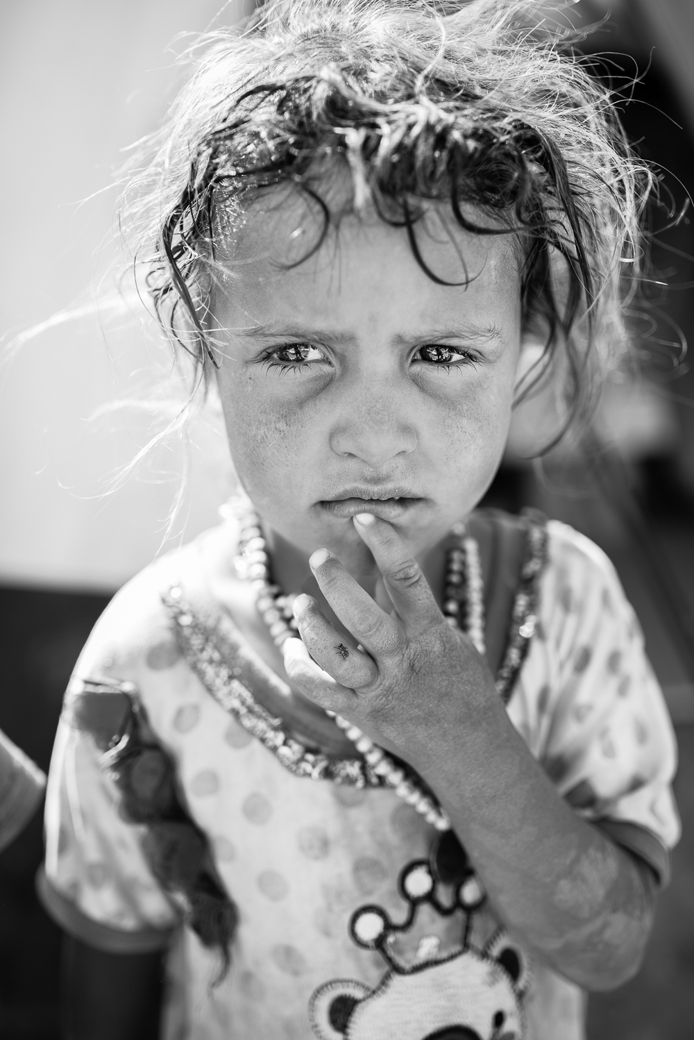 Little girl in the Erbil camp