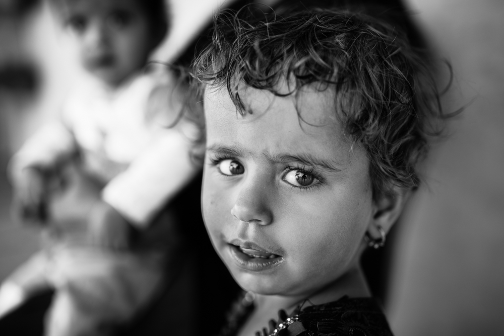 Little girl in a Erbil's school