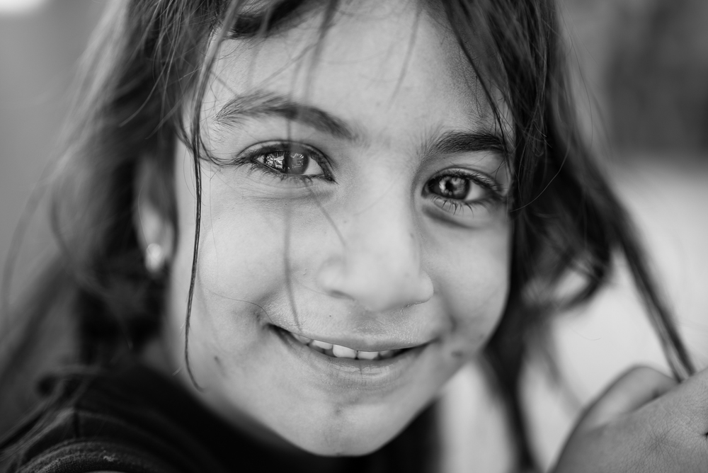 Little girl in a christians camp in Erbil