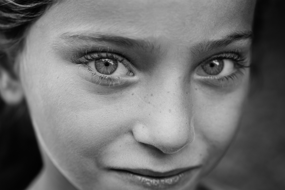The gaze of a syrian little girl in Gaziantep. The video of this photo is  here