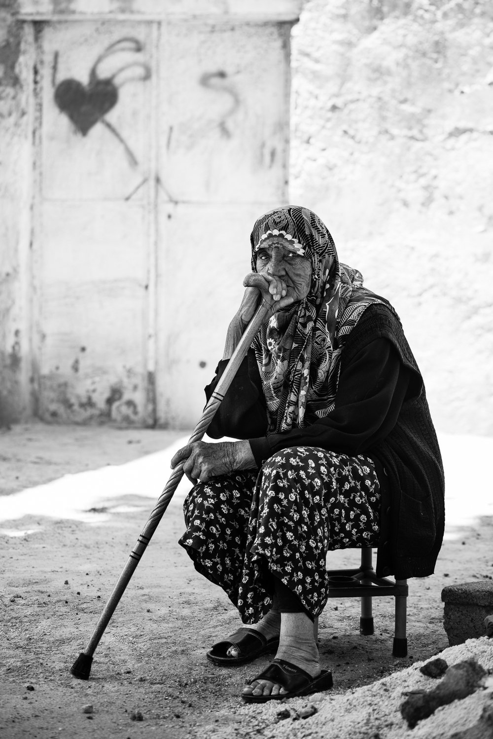 An elder woman in Kilis