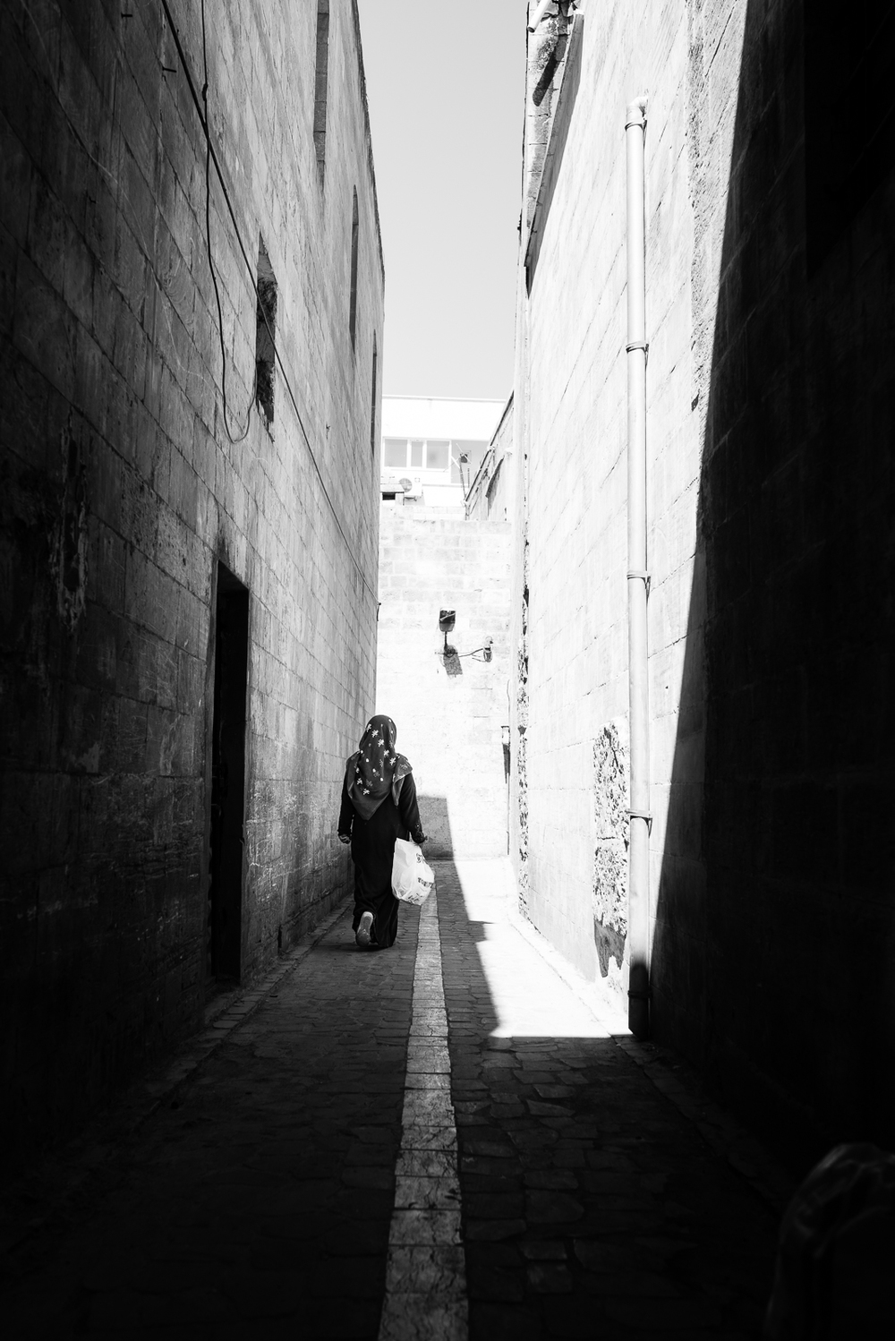 A lady on the Diyarbakir's alleys