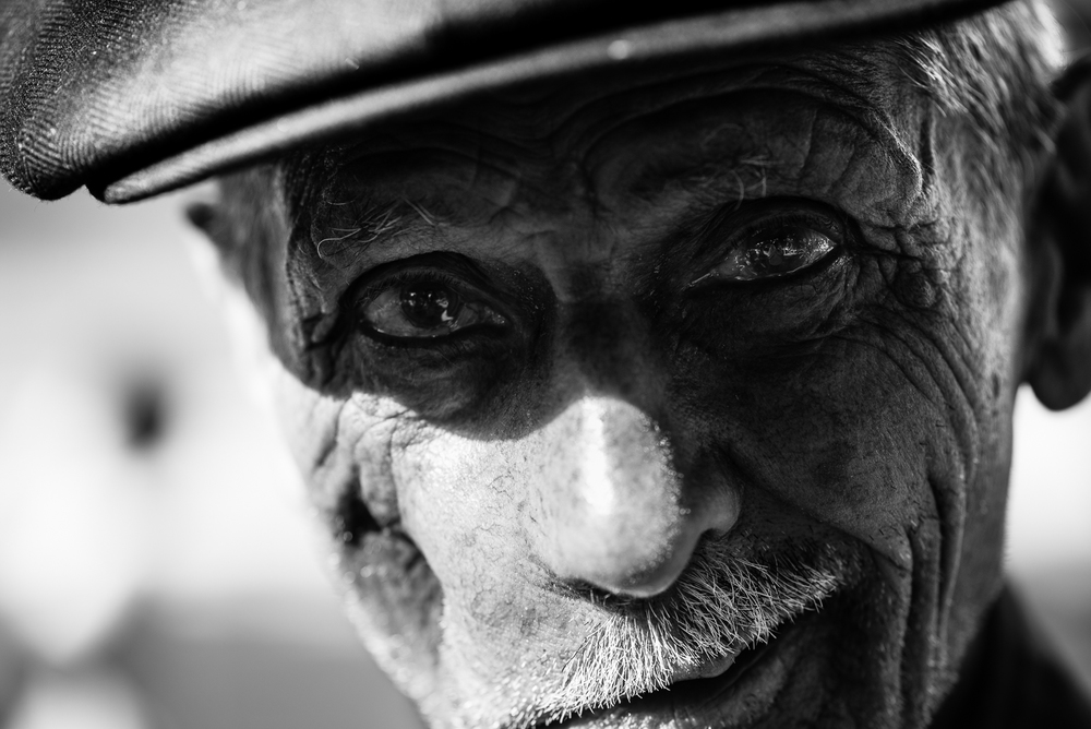 An old turkish man and his hat in Gaziantep. The video of this photo is  here