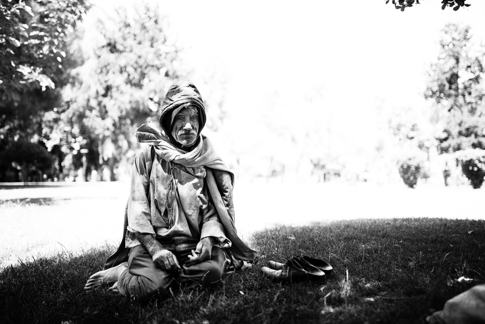 An homeless in a park of Sanliurfa. The video of this photo is  here