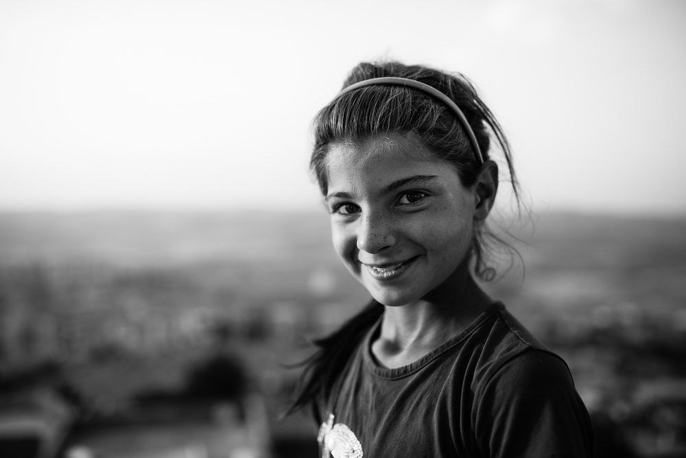 A girl on the top of Mardin's castle