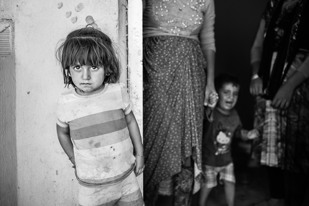 Children in Erbil's small refugees camp