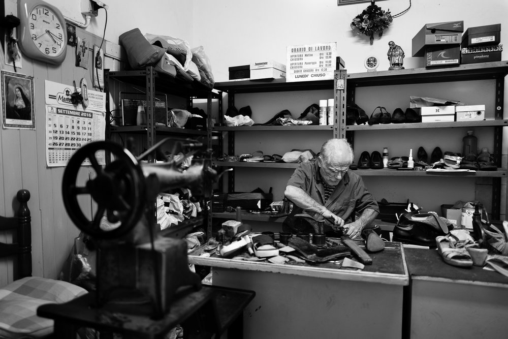 A cobbler at work