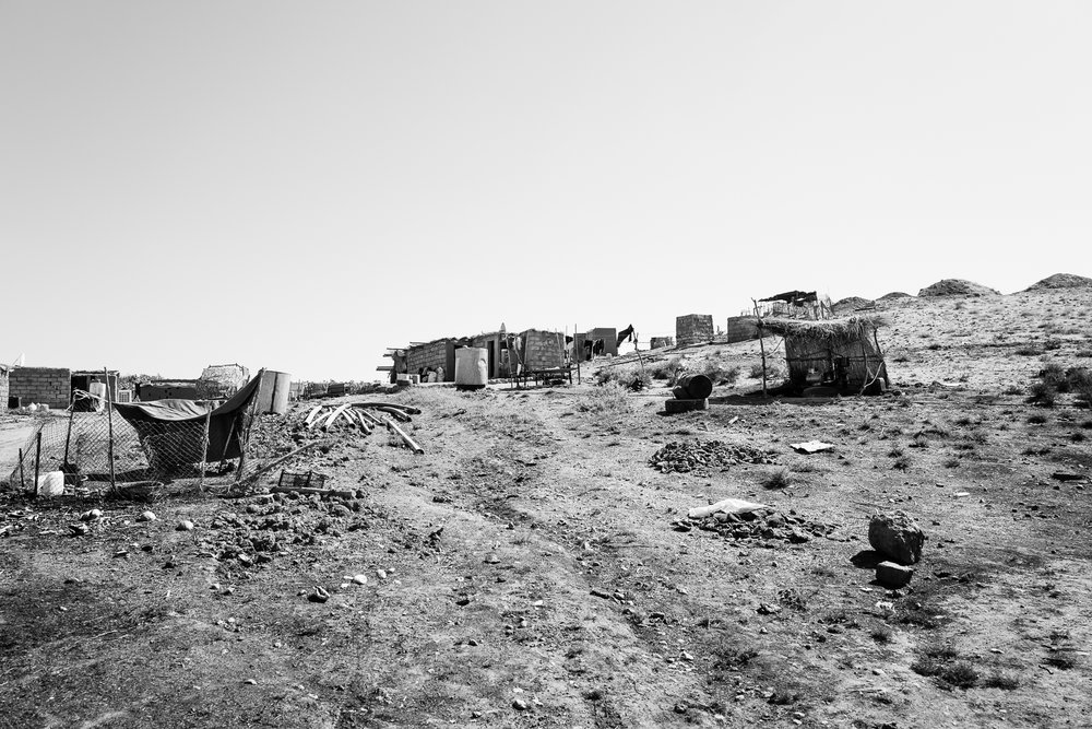 AYazidi temporary refugees camp in the desert, somewhere between Zakho and Sinjar. Iraq