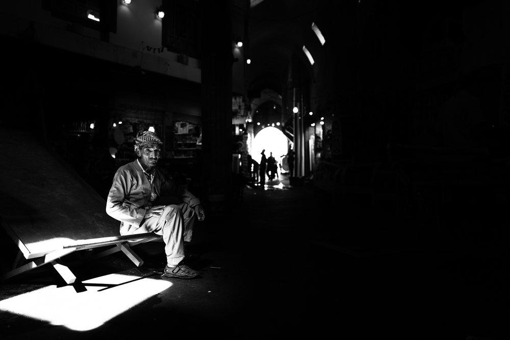 Man in the Erbil bazaar