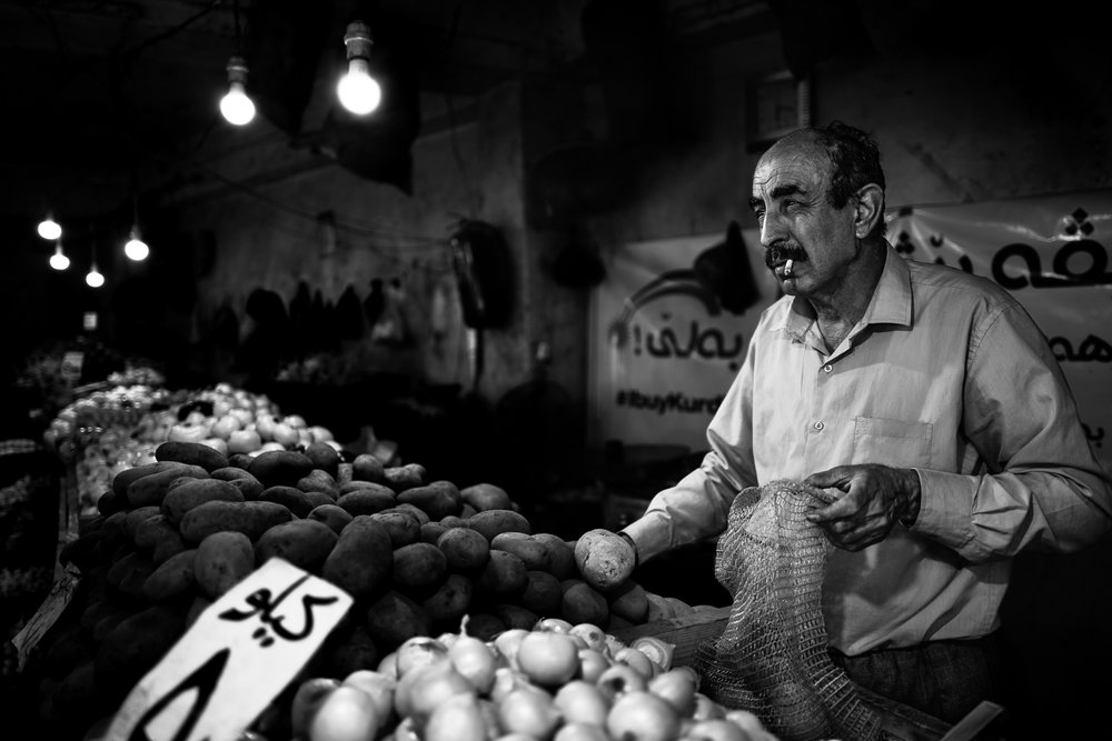 Inside the vegetables bazaar in Dohuk