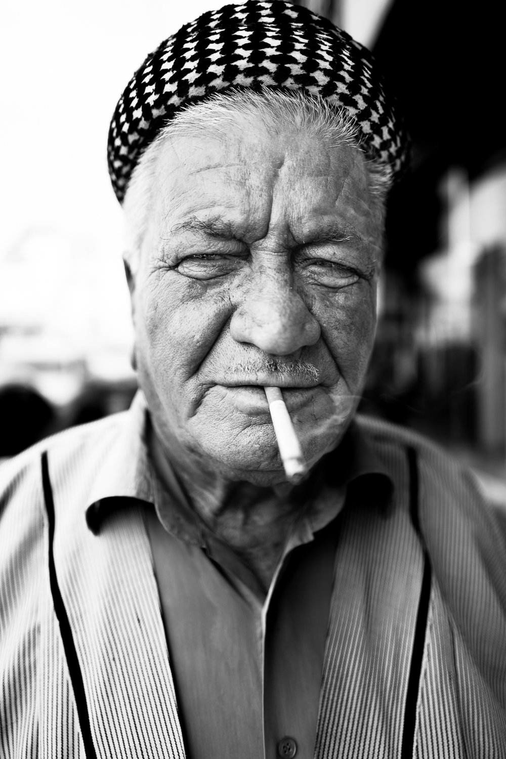 A smoker in Dohuk