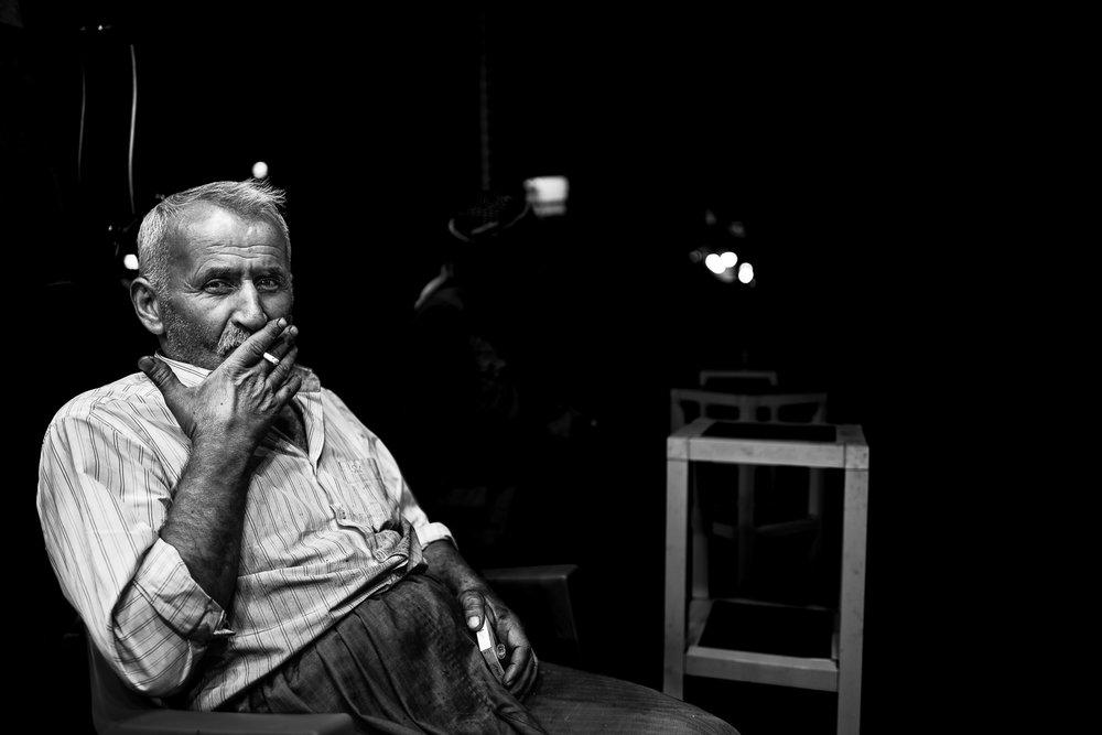 A smoker in Erbil