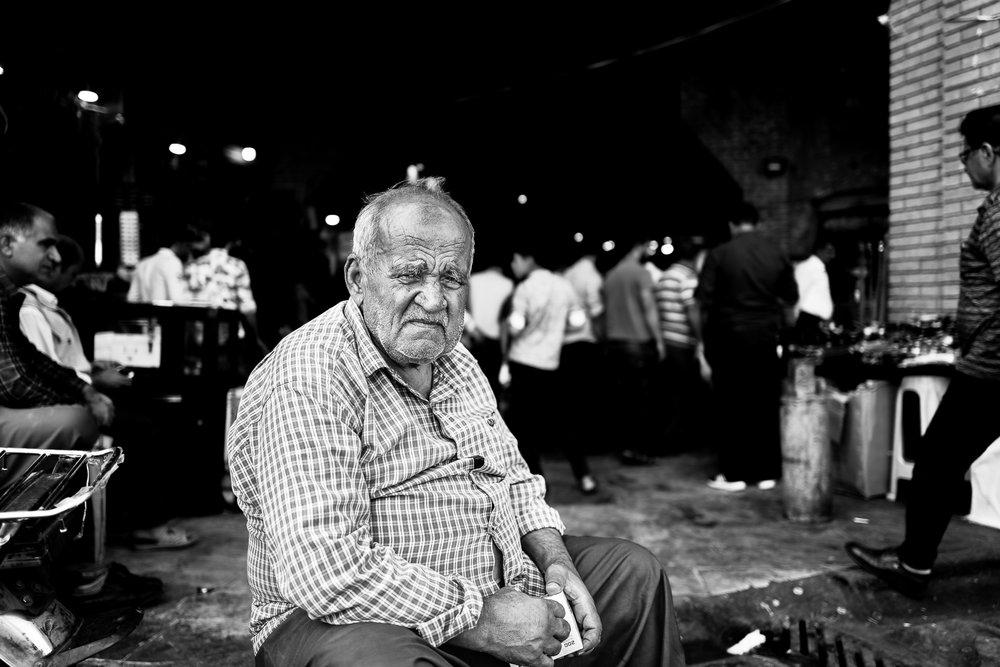 Man in Erbil bazaar