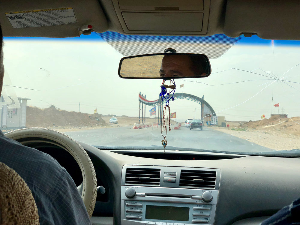 The checkpoint to exit from Kurdistan and enter into Iraq