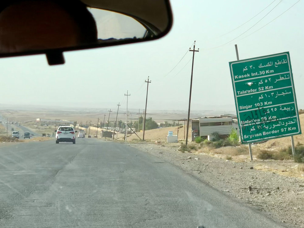 On the road to the Syrian border