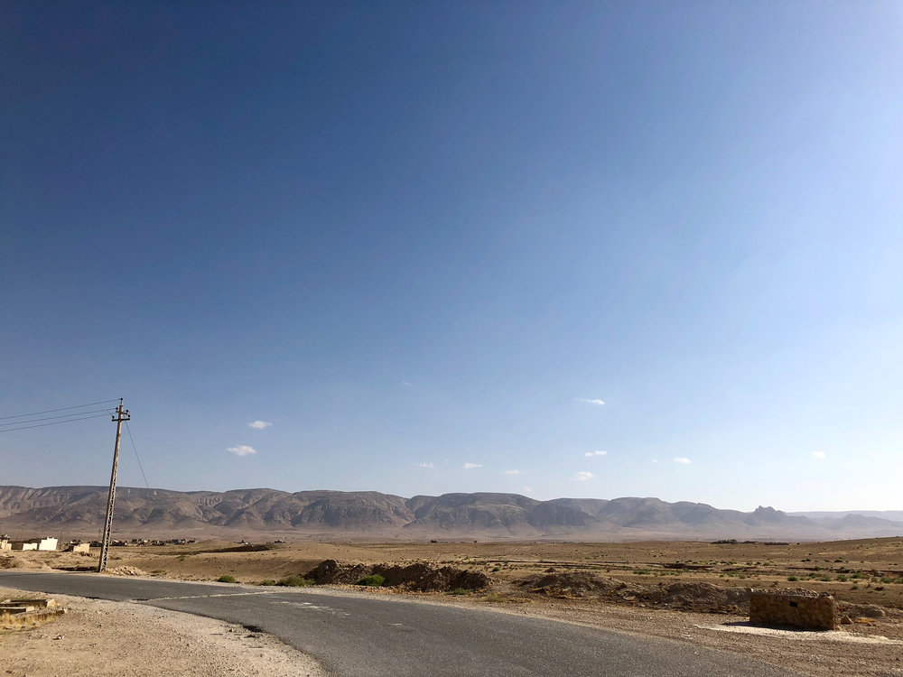 The destroyed, and empty, villages under the Sinjar mount
