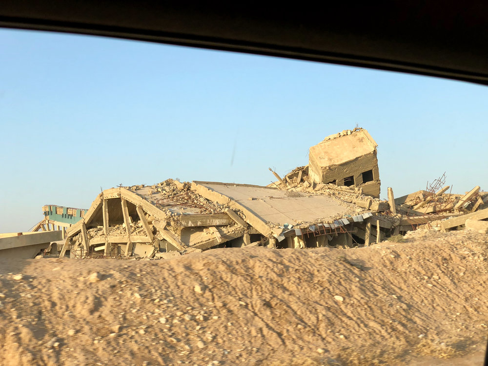 The destroyed hospital of Tal Afar