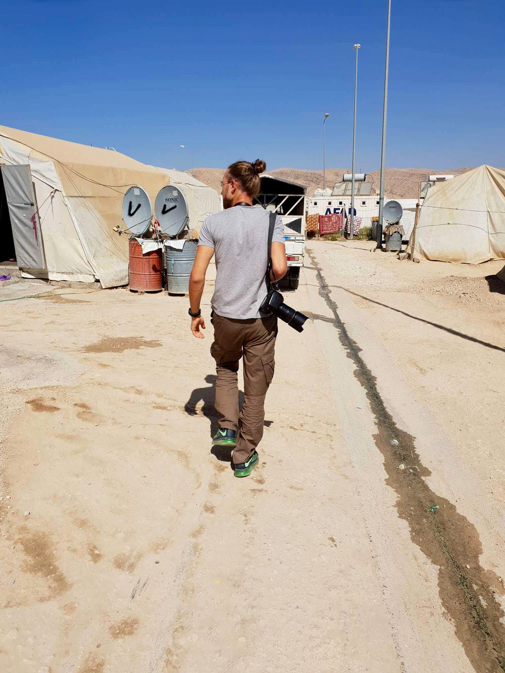 Me when I was shooting in a official refugees camp near Dohuk