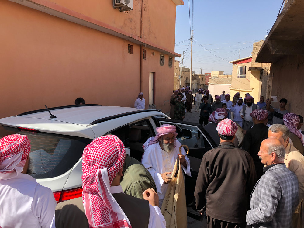 The start of Ceina Cemaiya at Baba Sheikh's house in Shekan
