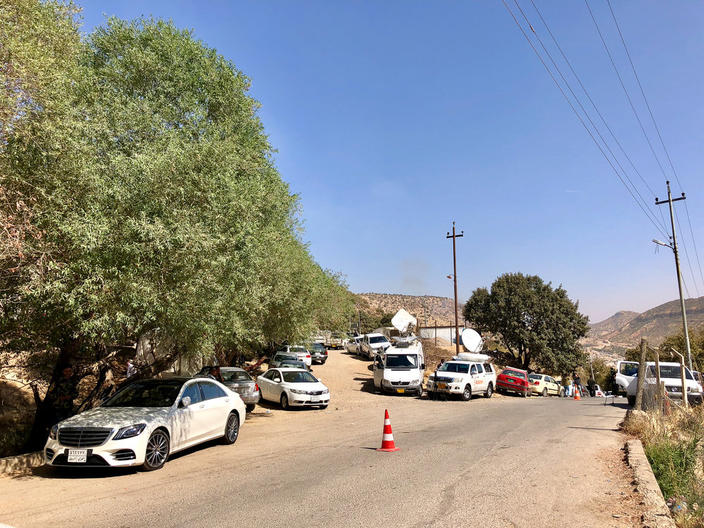 The media outside Lalish