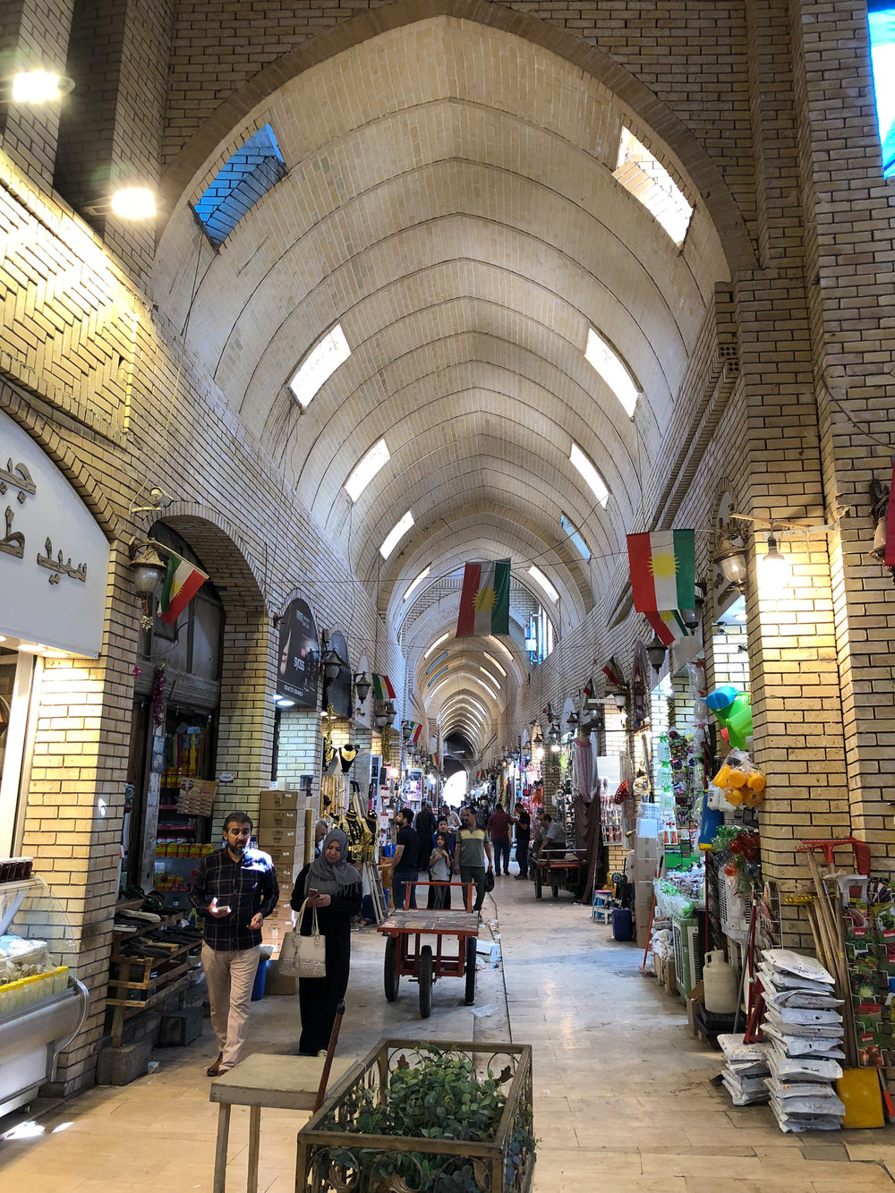 Inside the covered bazaar of Erbil
