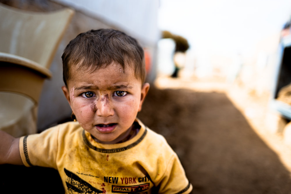 A child in the Sinjar mount